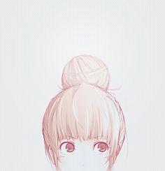 llustration pour mon tableau cheveux >> tutoriel chignon