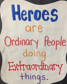 Love this! It is a powerful message everyone needs to learn! #hero #iteachk #iteachtoo #teachersfollowteachers #teacherlife #teachersofinstagram #teacher