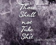 Thou shall