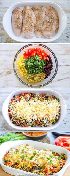 My kids devoured this! THE BEST Southwest Chicken recipe - Perfect for an easy dinner idea. Made with green chiles, black beans, corn, red pepper, and of course tender chicken breast, you will love this one dish meal! #ad #dinner #chicken #lowcarb #keto #lowcalorie #ww #mealprep Chicken Dishes For Dinner, Dinner Ideas With Chicken, Wasy Dinner Ideas, Dinner Ideas For Kids, Easy Meals For Dinner, Quick Easy Dinner, Meals With Chicken Breast, Easy Chicken Dishes, Healthy Dinner Meals