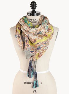 Custom silk scarves in limited editions... Johnny Was <3 !!