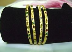 Buy MEENAKARI GOLD BANGLE at Rs. 132 only.. visit here- http://shwetajewelry.com/product/meenakari-gold-bangle/