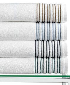 Hotel Collection Bath Towels, Borderline Collection - Bath Towels - Bed & Bath - Macy's