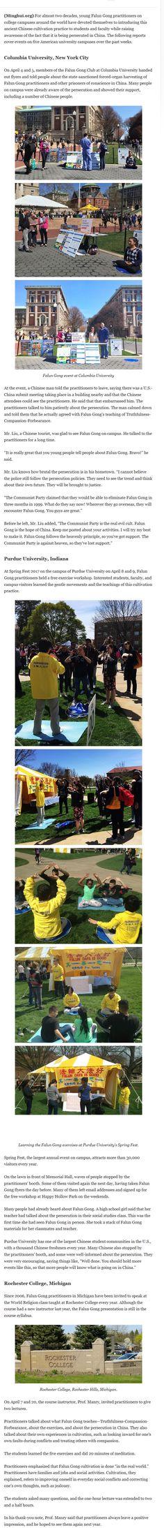 Falun Gong on College Campuses https://plus.google.com/+XMediaStudioValentin/posts/gzh8xVF7Yro