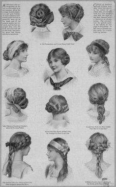 vintage hairstyles... i have to try these