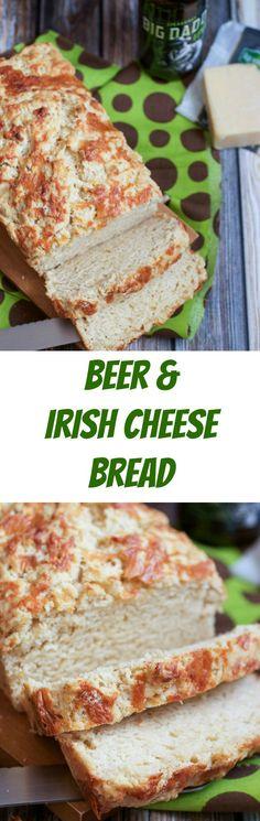 Beer and Irish Cheese Bread   girlinthelittleredkitchen.com