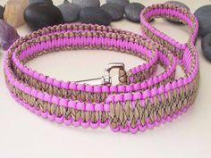 Paracord Dog Lead - Pink & Desert Camo