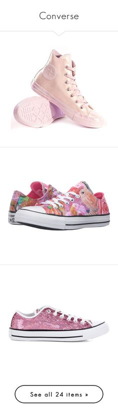 Converse by marock on Polyvore featuring polyvore, women's fashion, shoes, sneakers, multi, low profile sneakers, converse sneakers, converse trainers, neon pink sneakers, white low top sneakers, sequin sneakers, star sneakers, converse shoes, sequined shoes, converse footwear, periwinkle fabric, floral lace up shoes, star shoes, hi tops, converse high tops, high top shoes, converse, lt green, lace up sneakers, rubber shoes, green shoes, blue, blue flat shoes, high top sneakers, flat…