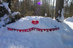 Vivian Ginder, Massanutten Just one pile of the snow from this Valentine snow storm...I had to make good use of it today...So I'm posting a photo for all my friends and family, wishing them lots of sunshine & love on this Valentine's Day, 2014 #WHSVsnow