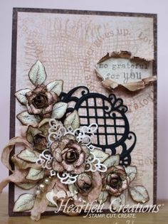 Heartfelt Creations | Vintage Roses Card