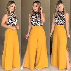 Para as meninas que gostam dपूजा e ❣️❣️ arrasta pro lado e me diz qual seu look favorito! Fashion Pants, Look Fashion, Hijab Fashion, Fashion Outfits, Travel Outfits, Classy Outfits, Stylish Outfits, Dress Outfits, Casual Dresses