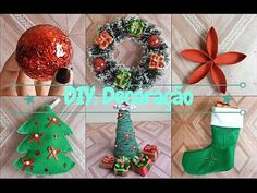 DIY: 5 ideias com rolo de papel higiênico para o Natal - DO LIXO AO LUXO #2 - Compartilhando Arte - YouTube