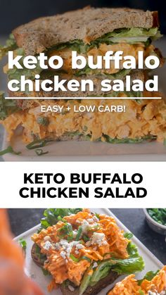 Lunch Recipes, Mexican Food Recipes, Low Carb Recipes, Classic Brownies Recipe, Healthy Vegetable Recipes, Buffalo Chicken, Low Carb Keto, Chicken Salad, Chicken Recipes