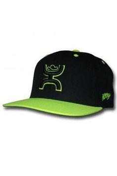 Hooey® Mens Rebel Neon Green and Black Cap