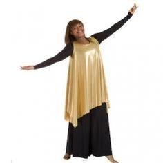 Celebration of Spirit Drapey Tunics tank pullover, Loose Style, Metallic   ewoomall