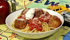 the chew | Recipe  | Marie Rivera's Little Italy Spaghetti And Meatballs..want to try these meatballs.