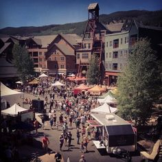 River Run Village during the 2012 Blue Ribbon Bacon Tour Festival. #KeystoneResort #Colorado #ski #RiverRunVillage #SilverMill8210