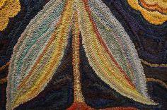 Fish Eye Rugs...detail of Jule Marie Smith's Cape Ann Primitive