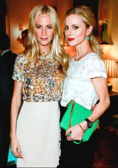 Poppy Delevinge & Laura Bailey- Them in general, the purse, the middle part, the lips!