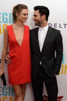 The Maroon 5 singer married south-african born model Behati Prinsloo in Los Cabos, Mexico on Saturday.