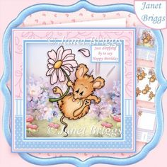 DAISY DROP All Occasions 8x8 Decoupage & Insert Mini Kit