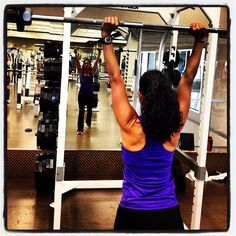 Exercise of the day: barbell clean and press  Photo by rsvenby • Instagram