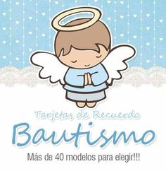 25 tarjetas de bautismo