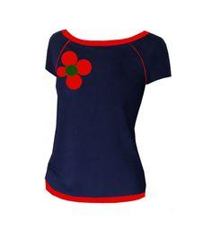 "Iza Fabian  SHIRT  ""RED FLOWER 71""    von Iza Fabian Design  auf DaWanda.com"
