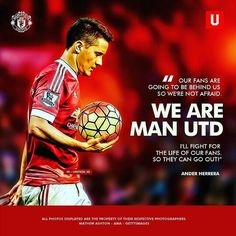 #Soccer #Quotes - #AnderHerrera Manchester United Fans, Soccer Quotes, Derby Day, Photo Displays, Going Out, The Unit, Football Quotes