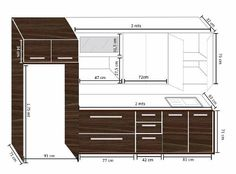 Planning Your Kitchen: Making Design Choices in the Right Order Kitchen Cupboard Designs, Kitchen Cabinet Layout, New Kitchen Designs, Kitchen Room Design, Kitchen Sets, Modern Kitchen Design, Interior Design Kitchen, Kitchen Cabinets Drawing, Kitchen Cabinet Dimensions