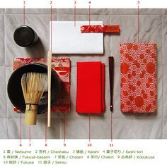 nagarazoku:  Items used in Japanese tea ceremony