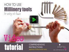"Diy Crafts - judithm,hats-The latest video tutorial ""How artistically use professional millinery tools"" to make couture silk flowers silkflowerartist Making Fabric Flowers, Yarn Flowers, Flower Making, Diy Flowers, Paper Flowers, Bordados E Cia, Fleurs Diy, Flower Video, Silk Ribbon Embroidery"