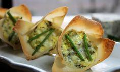 Artichoke, Gorgonzola and Chive Tarts