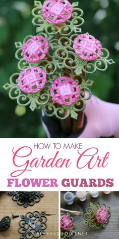 Garden hose or lawnmower cord dragging across your plants? Make homemade, repurposed hose guards for just a few dollars and save your plants! Click to see complete instructions.#gardenart #gardenjunk #diy #upcycle #empressofdirt #repurposed