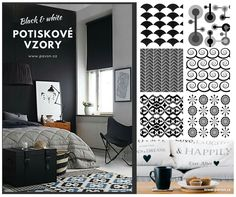 Black & White Printing patterns for Roller Blinds by Pavon... Do you like this inspiration for your home?