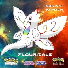 #051 Flouritale Type: Fairy/Dragon Species: The Fairytale Pokémon Abilities: Dazzling/10 Path . .  There's a starter Pokémon for every starter and they all morph into dragon types in their final evolution as part of the story! So calm your tits, the rest of my Pokédex is immensely diverse after the starters. I have over 350 Pokémon to reveal, which makes 5% of it dragons so chill you beautiful pieces of oatmeal . .  Inside it's chest harnesses the power of a mega stone. Interestingly enough… Dragon Type Pokemon, Poke Pokemon, Pokemon Show, Pokemon Fake, Mega Pokemon, Pokemon Fan Art, Pokemon Fusion, Pokemon Fairy Type, Pokemon Eeveelutions