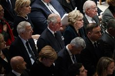 Prince Charles, representing HM The Queen, attended the state funeral of former U. President George H. Bush at The National Cathedral in Washington DC. Prince Charles And Camilla, Prince Phillip, British History, American History, John Major, Bush Family, Camilla Duchess Of Cornwall, Royal Uk, Hm The Queen