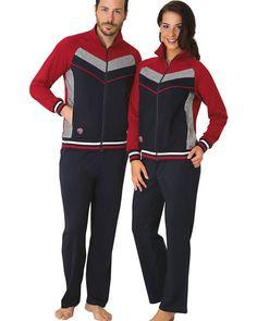 Mecit Fermuarlı Sevgili Çift Eşofman Pijama Takımı 1037-3004