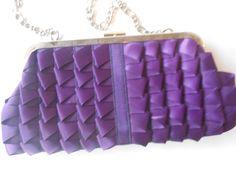 Vintage Evening Bag Purple Clutch Purse by LittleBitsofGlamour, $26.00
