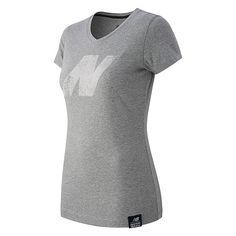 """New Balance N Tee - Women's"" Athletic Women, Athletic Shoes, New Balance, Dresses For Work, V Neck, Tees, Fashion, Moda, T Shirts"