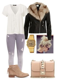 """Autumn."" by frenkiefashion on Polyvore featuring River Island, Sole Society, Casio and Valentino"