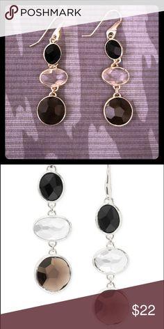 Stella & Dot Mila Triple drop earrings Stella & Dot Mila Triple Drop earrings in silver with semi-precious stones. Excellent condition Stella & Dot Jewelry Earrings