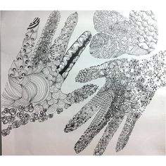 tangle of my hands, done on 18/05/2012