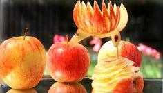 ItalyPaul - Art In Fruit & Vegetable Carving Lessons: Art In Apple Birds | Fruit Carving Garnish | Food ...
