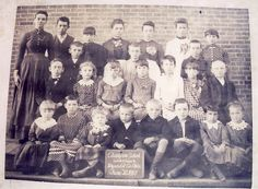 Class of 1887 from the Champion School...  Ohio