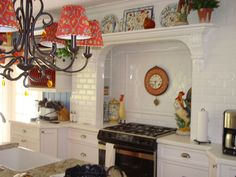 French country Kitchen - love the alcove for the stove