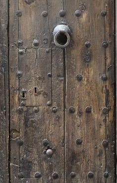 Ancient wooden door,