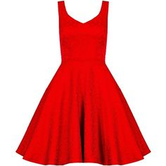 Quiz Red Jacquard Skater Dress ($61) ❤ liked on Polyvore featuring dresses, red, women, jacquard dress, red day dress, summer dresses, red dress and skater dress