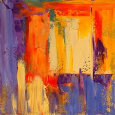 Colorful Abstract Painting, Into the Light, painting by artist Theresa Paden