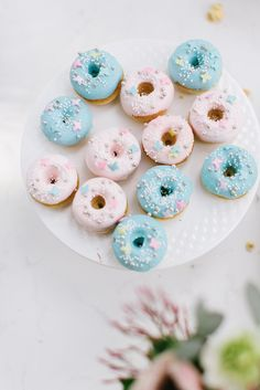 pink and blue donuts...